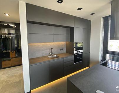 modern kitchen gray