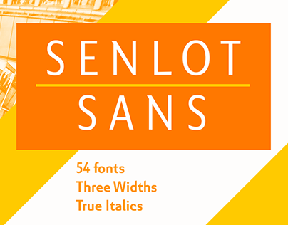 Senlot Sans is not another sans in search of character.