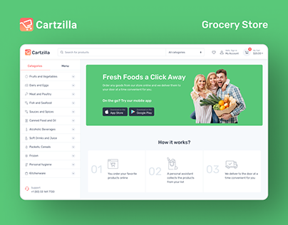 E-Commerce Grocery Store