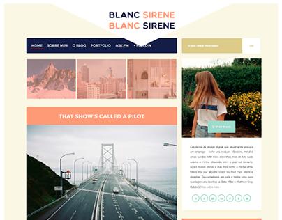 Blanc Sirene (Personal Blog Layout)