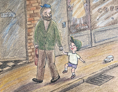 Joyful day with Grandfather
