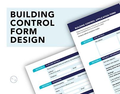 Building Control Form Design