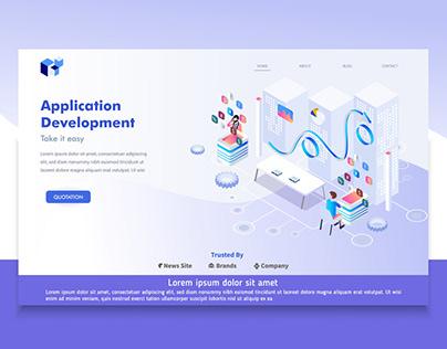 Application Development Landing Page Design