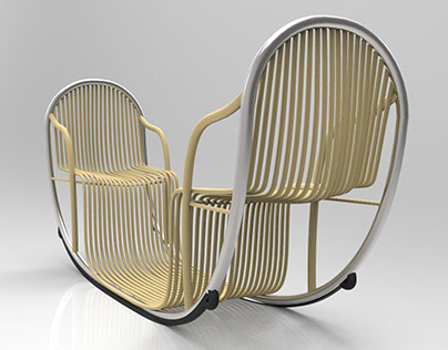 DUO - Rattan Rocking Chair for Two