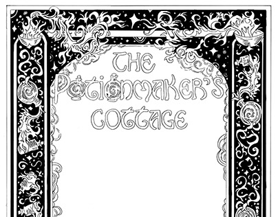 Book Cover Pattern Design: The Potionmaker's Cottage