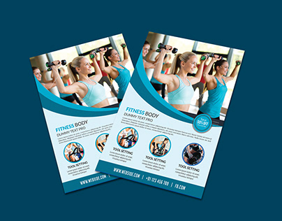 Corporate Fitness Brochure Template Flyer
