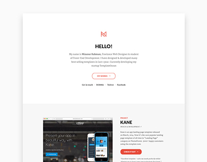 Personal Web Site Redesign