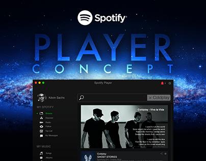 UI/UX Design Inspiration : Spotify Player Concept
