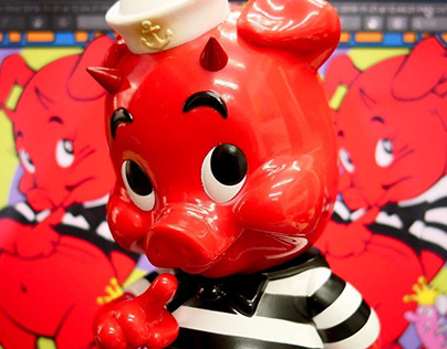 Frank Kozik Piggums for Blackbook Toy