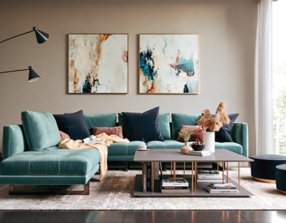 Relaxing Living Room (Vray)
