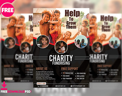 Charity Flyer Free PSD
