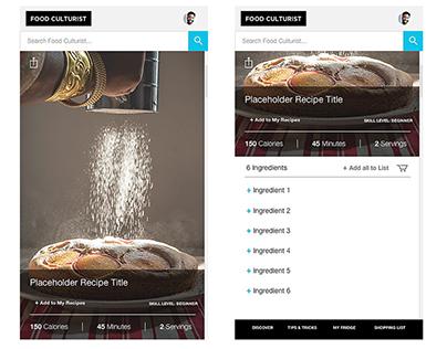 Food Culturist Mobile App Design
