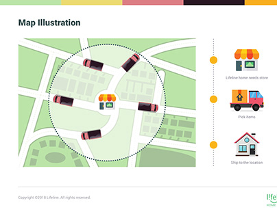 Map Illustration-Lifeline Online Portal