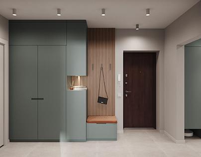 Проект квартиры пл. 53,67 м кв. по ул. Некрасова