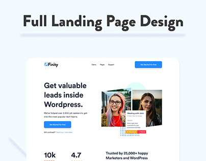 Plugin Landing Page Design - Premium KIT For Free