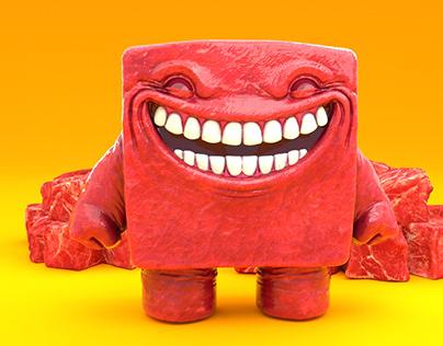 Super Meat Boy | 3D Render Fan Art