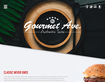 Restaurant Website Mockup
