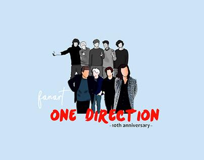 One Direction 10th Anniversary | Fanart
