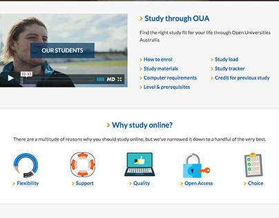 OUA - Getting started page