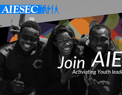 Graphic design for AIESEC Namibia recruitment campaign