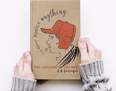 Catcher in the rye book cover art