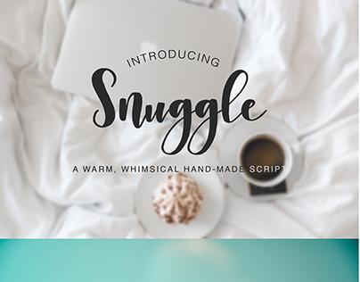 Snuggle - a whimsical hand-made brush script