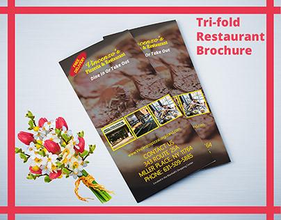 Tri-fold Restaurant Brochure