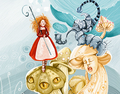 "Illustrations Alice's adventures in Wonderland"""