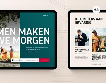 Schagen Infra - Employer Branding platform UX/UI