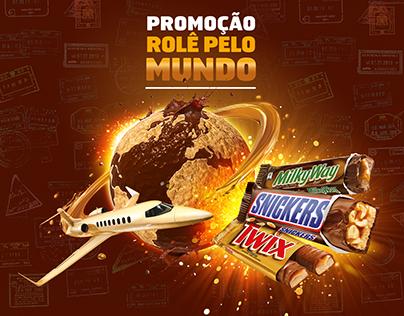 Promoção Rolê Pelo Mundo - Snickers