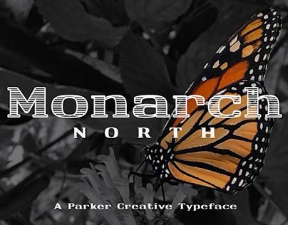Monarch North - Line Hatch Typeface