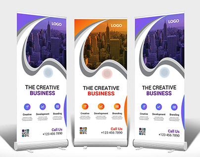 Roll up banner | pull up | Retractable Banner Bundle