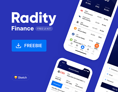 Radity Finance UI Kit - Free