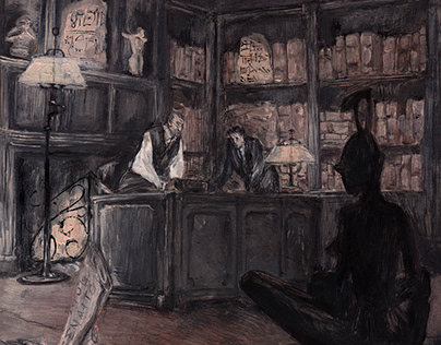 Professor's office | oil painting