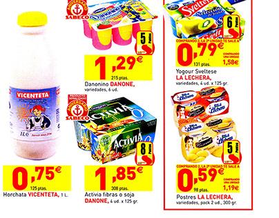 Cartelas de precios catalogos de Alcampo