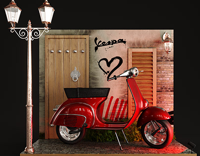 Vespa Product Stand