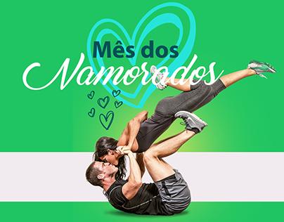 Campanha Mês dos Namorados Inove Studio de Pilates