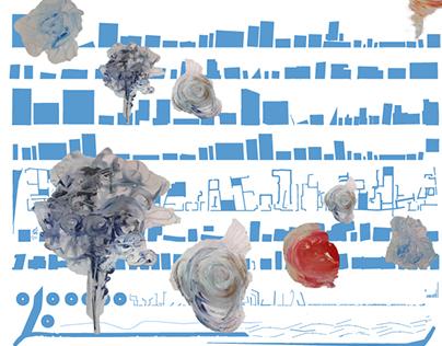 Affiche de l'exposition Les 4 Saisons.