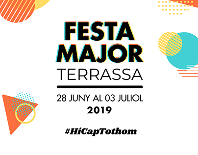 Cartel Fiesta Mayor 2019 Terrassa