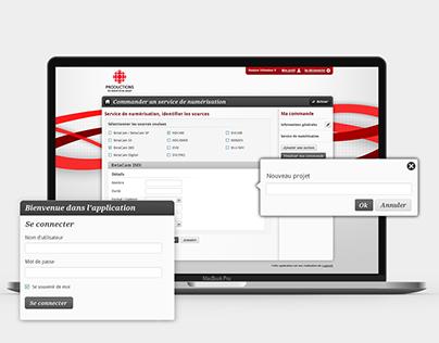 Production Radio-Canada - UI application web