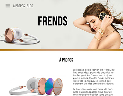 Fictional Frends landing page