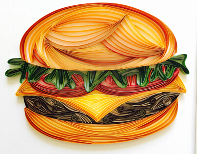 Paper Quilled Hamburger