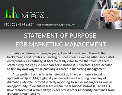 statement of purpose for marketing internship Get the help with the statement of purpose internship program to get admitted faster there are several ways for the students to get the internship for the first time: attend the summer school undergo a traditional internship in the company or the big corporation.
