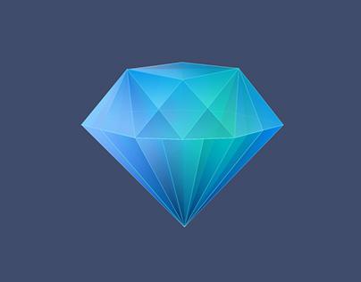 iOS Diamond App Icon