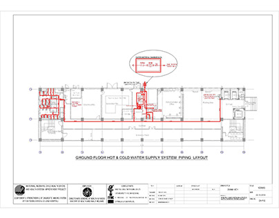 PLUMBING DRAWING (MNCH PROJECT) BY AUTOCAD