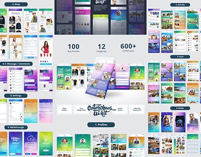 """ColorChaos"" IOS Mobile UI kit"