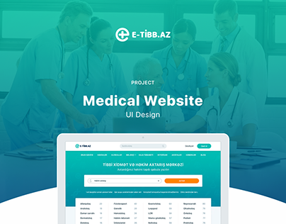 E-tibb.az - Medical Website Design