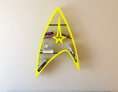 Star Trek iron, shelf, design, bookshelf