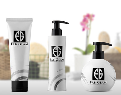 Logo Design & Packaging Mockup for Fab Glam Cosmetics