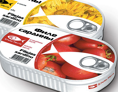 Stella Maris fish canned food identity and packaging